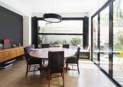 Family dining room extention in Australian contemporary home